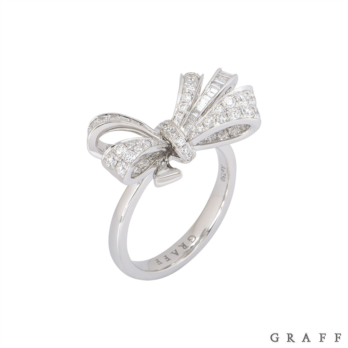Graff White Gold Diamond Bow Ring